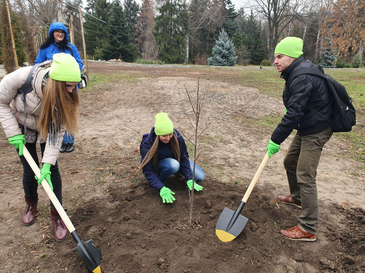 Співробітники та студенти кафедри посадили одне з 215-ти дерев на честь 215-ї річниці заснування Каразінського університету