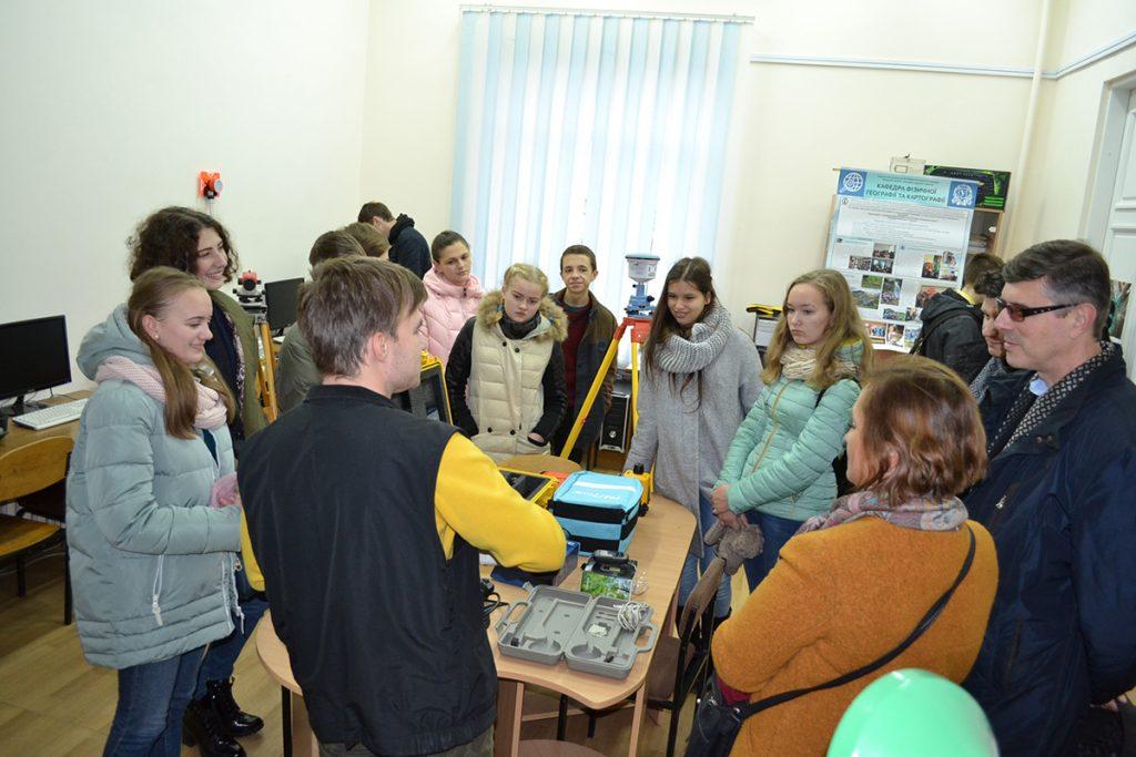 Візит учасників Всеукраїнського турніру юних географів