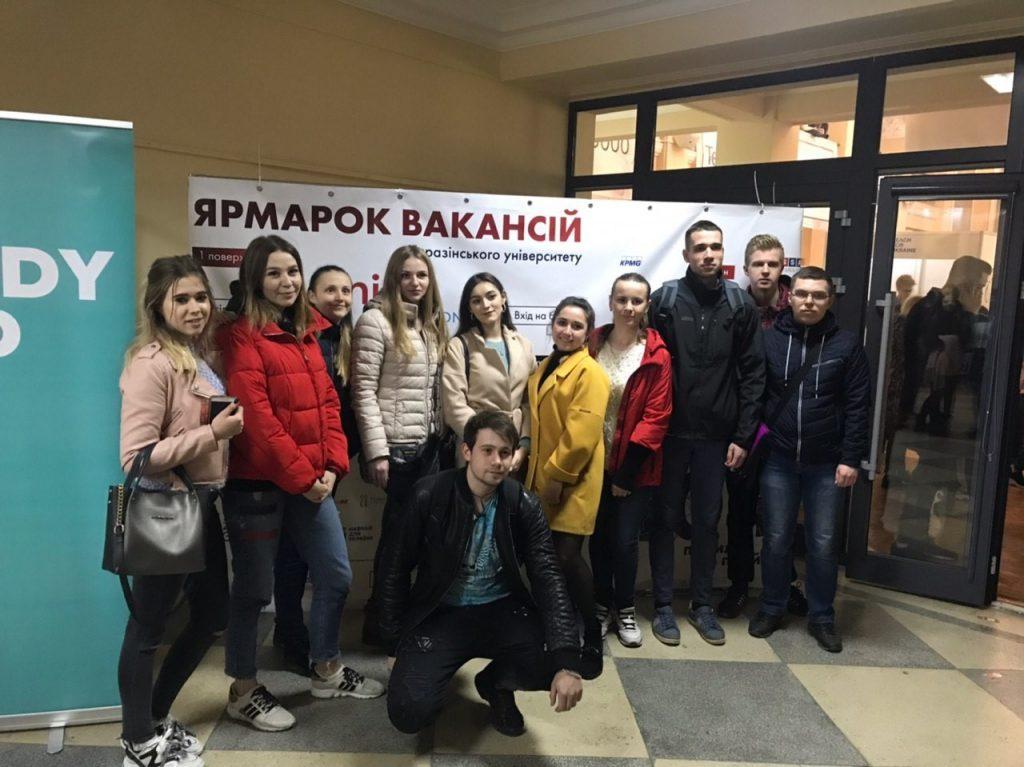 """Cтуденти кафедри відвідали Ярмарок вакансій """"Кар'єра у великому місті"""""""